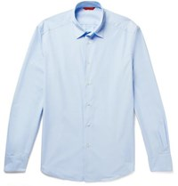 Barena Slim Fit Cotton Poplin Shirt Light Blue