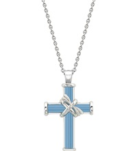 Theo Fennell Sterling Silver And Blue Jade Meadow Cross Chain