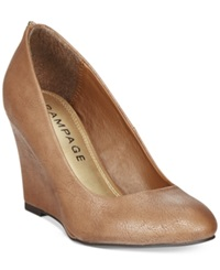 Rampage Keaton Zip Back Wedges Women's Shoes Taupe