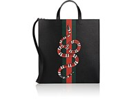 Gucci Men's Snake Print Tote Bag Black