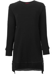 Undercover Pleated Hem Sweatshirt Black