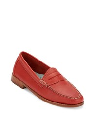 G.H. Bass Whitney Leather Penny Loafers Poppy