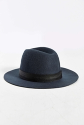 Urban Outfitters Trim Felted Fedora Grey