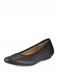 Neiman Marcus Shanna Quilted Leather Flat Black