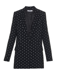 Givenchy Cross Print Single Breasted Cady Blazer