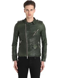 Giorgio Brato Washed Smooth Nappa Biker Jacket