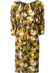 L'autre Chose Printed Dress Yellow And Orange