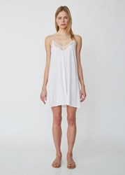 Skin Gracie Lace Trimmed Chemise White