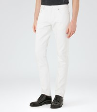 Reiss Johnny Mens Slim Fit Jeans In White