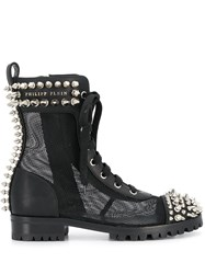 Philipp Plein Studded 35Mm Lace Up Boots 60