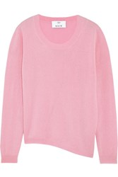Allude Asymmetric Wool And Cashmere Blend Sweater Baby Pink