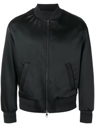 Neil Barrett Lightning Bolt Bomber Jacket Black