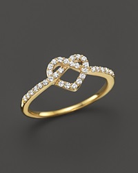 Bloomingdale's Diamond Heart Knot Ring In 14K Yellow Gold .25 Ct. T.W.