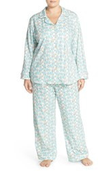 Plus Size Women's Bedhead 'Cats And Dogs' Stretch Cotton Pajamas Blue Elephants