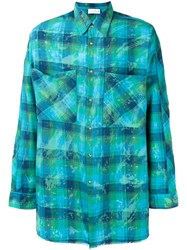 Faith Connexion Checked Shirt Blue