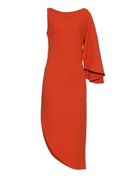 Osman Zenoba Asymmetric Stretch Crepe Dress