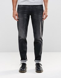 Replay Anbass Slim Jeans Stretch Washed Black Washed Black