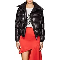 Sacai Asymmetric Tech Fabric Puffer Jacket Black