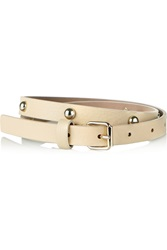 Red Valentino Studded Leather Skinny Belt