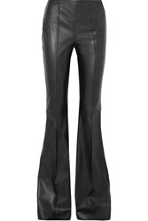 Michael Kors Collection Leather Flared Pants Black