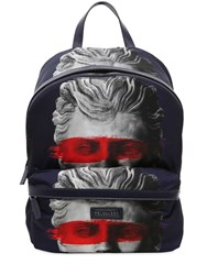 Trussardi Printed Nylon And Leather Backpack