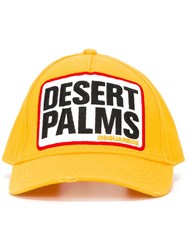 Dsquared2 Desert Palms Baseball Cap Yellow Orange