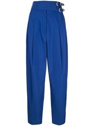 Toga High Rise Tapered Trousers Blue