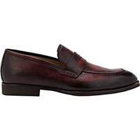 Di Bianco Men's Burnished Penny Loafers Red