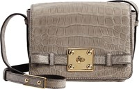 Zagliani Giulietta Box Shoulder Bag Grey