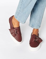Asos Digger D Ring Trainers Oxblood Red