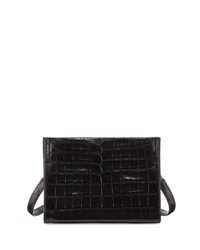 Nancy Gonzalez Mini Square Crocodile Clutch Bag Black