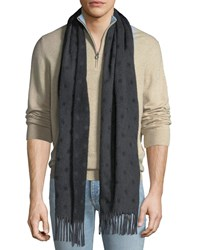 Begg And Co Dotted Cashmere Scarf Charcoal