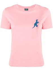 Paul Smith Ps By Dinosaur Logo T Shirt Pink And Purple