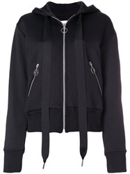 Marques Almeida Marques'almeida Zipped Hoodie Cotton Polyamide Black