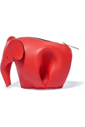 Loewe Elephant Leather Wallet Red