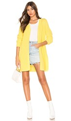 525 America Open Front Cardigan In Yellow. Lemon Yellow
