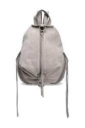 Rebecca Minkoff Woman Julian Convertible Suede Backpack Stone