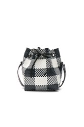 Truss Large Bucket In Black White Checkered And Plaid Black White Checkered And Plaid