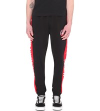 Billionaire Boys Club Approach And Land Cotton Jersey Jogging Bottoms Black Red