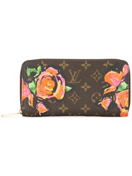 Louis Vuitton Vintage Monogram Roses Wallet Brown