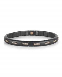 Roberto Demeglio Pura Matte Black Ceramic And 18K Rose Gold Bracelet With Champagne Diamonds 0.55 Tdcw