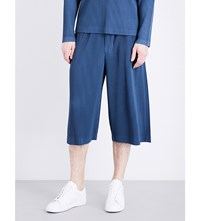 Homme Plisse Issey Miyake Pleated Woven Trousers Dark Blue Grey