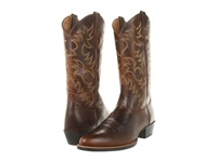 Ariat Heritage Western R Toe Weathered Chestnut Cowboy Boots Bronze