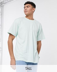 Soul Star Tall Organic Cotton Oversized T Shirt In Blue Green