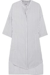 Dkny Striped Voile Nightdress Light Gray