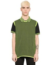 Christopher Kane Striped Cotton Blend Sweater Vest