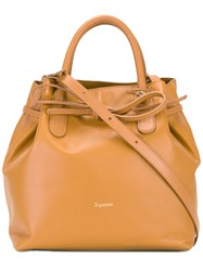 Repetto Removable Strap Bucket Bag Brown