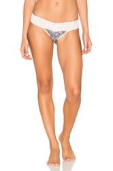 Only Hearts Club Python Stretch Lace Low Rise Thong Pink