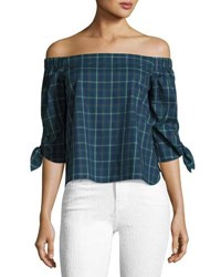 Bailey 44 Twin Fin Off The Shoulder Top Blue