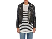 Iro Women's Naele Patent Leather Moto Jacket Black
